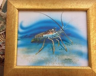 "Steve J. Harris. Spiny Lobster, 13"" x11""."