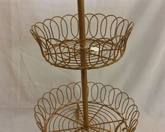 Wire Tiered Basket with Bird Top.