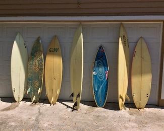 "Locally Shaped Surfboards. Incline, 6' 3 1/2"". Incline, 5' 10"". CW, 6"" 1"". Incline, 7' 4"". Incline Ocean Minded, 5' 4"". Incline, 5' 11""."