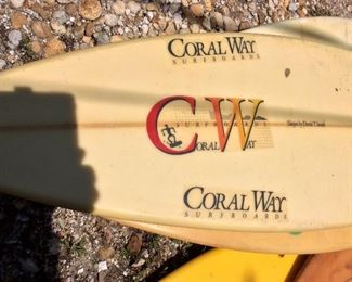 Locally Shaped CW - Coral Way Surfboards.