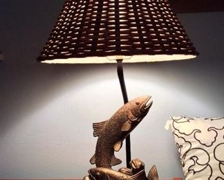 Trout Table Lamp.