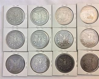 Morgan Silver Dollars.