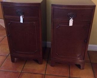 "Pair of Antique Morganton Hepplewhite Nightstands, 17"" W x 32"" H x 18"" D."