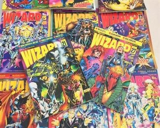 Lot of Wizard Magazines.