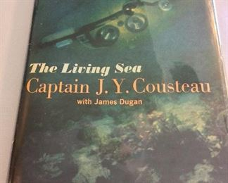The Living Sea by Captain Jacques Y. Cousteau, First Edition.