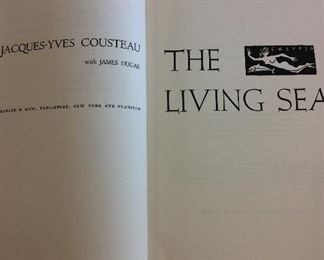 The Living Sea by Captain Jacques Y. Cousteau, First Edition, (no Dust Jacket).