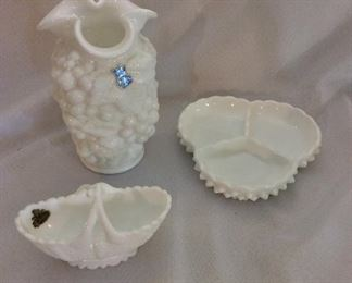Milk Glass by Imperial and Fenton.