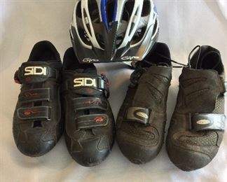 Sidi Road Bike Shoes Men's 10. Giro Helmet. Diadora Mountain Bike Shoes Men's 10.