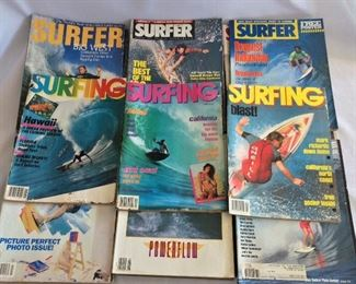Lot of Surfer Magazines.