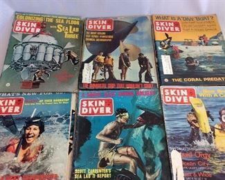 Large Lot of Skin Diver Magazines 1960's - 1980's.