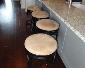 Set of 4 metal bar stools