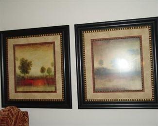 Pair of modern prints