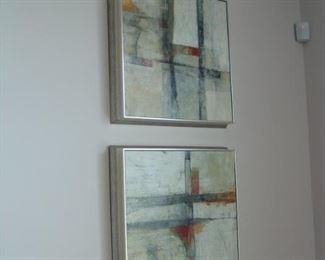 Pair of contemporary paintings