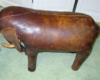 FOOTSTOOL LEATHER CIR 1870-1890 $400 FAMILY HEIRLOOM