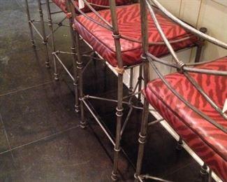 Four matching bar stools