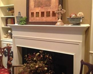 Another fireplace and decor