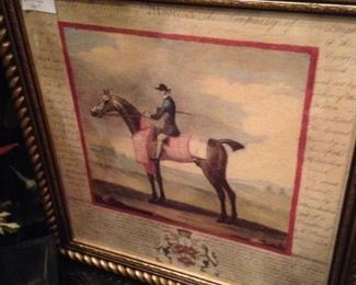 Framed and matted horse pictures