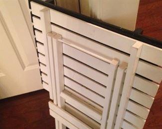 White and black folding  tray
