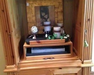Another pine entertainment armoire