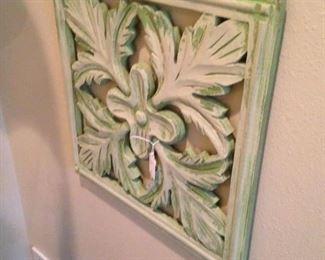 Greenish wall plaque