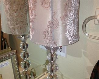 Lovely silver lamp