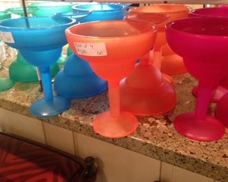 Colorful and plastic glasses
