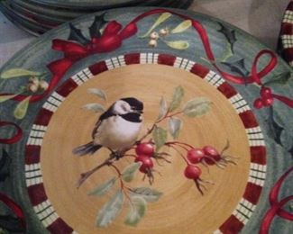 """Lenox """"Winter Greetings"""" dishes (different birds on each plate)"""