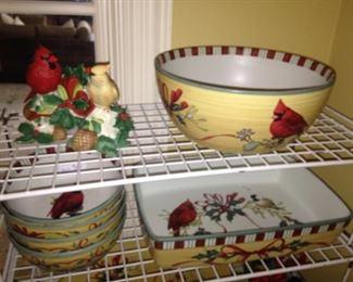 Bowls and casserole dish