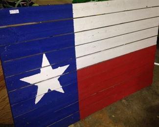 3 feet x 5 feet boards painted like the Texas flag