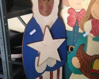 Wooden Uncle Sam  (It will soon be the 4th of July!)