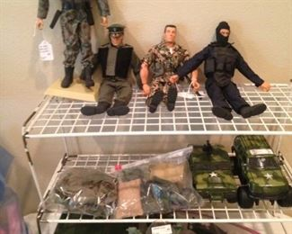 G I Joes and accessories