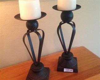 Matching candleholders