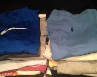Many T shirts