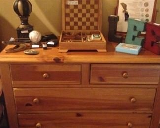 Coordinating 5-drawer chest/nightstand