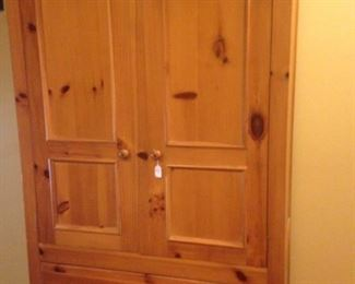 Matching TV/clothes armoire