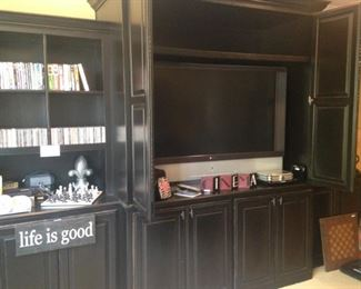 Very large wall unit and TV