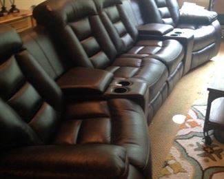 Reclining sectional perfect for the media room