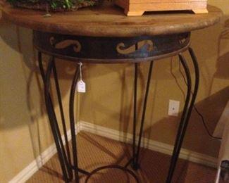 Wooden top bistro table