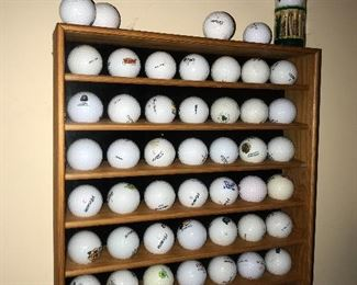 GOLF BALL DISPLAY CASE CABINET WALL RACK HOLDER