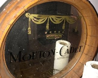VINTAGE MOUTON CADET BARON MIRRORED BAR SIGN