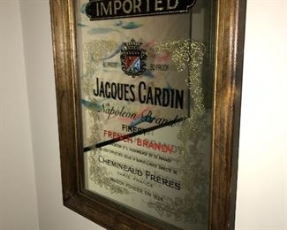 JACQUES CARDIN NAPOLEON BRAND FRENCH BRANDY BAR MIRROR