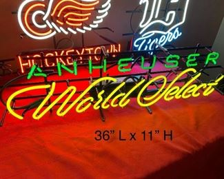 ANHEUSER WORLD SELECT NEON SIGN