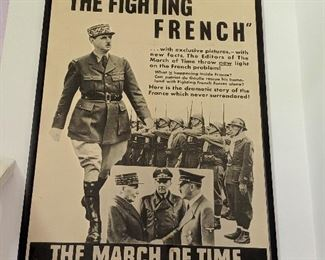 Time-Life Poster featuring Gen. DeGaulle