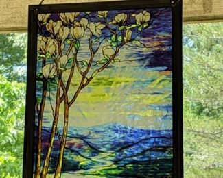 """""""Tiffany"""" stained glass picture"""