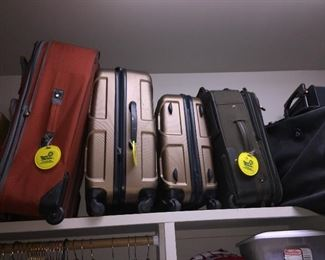 almost new suitcases