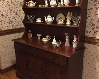Vintage plate rack cabinet