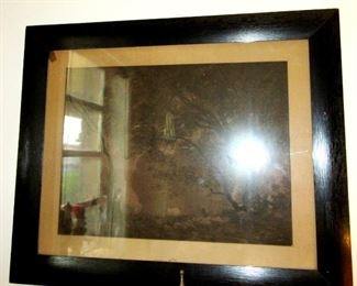toledo large wood frame