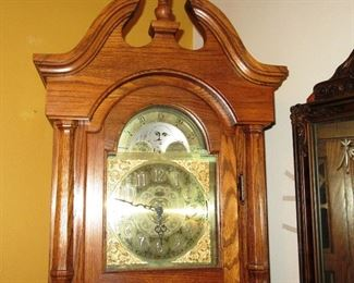 toledo grandfather clock face