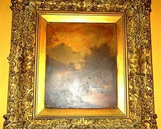 toledo gold framed painting