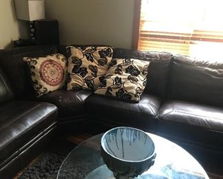 Large leather sectional (2 of 3)